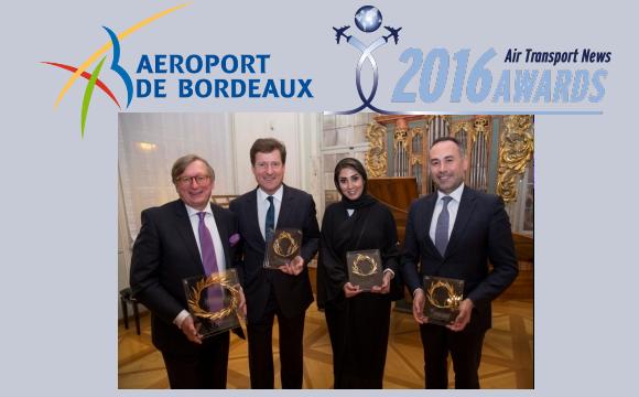 L'Aéroport de Bordeaux reçoit l'award ATN du Meilleur Aéroport 2016 dans la catégorie moins de 10 millions de passagers